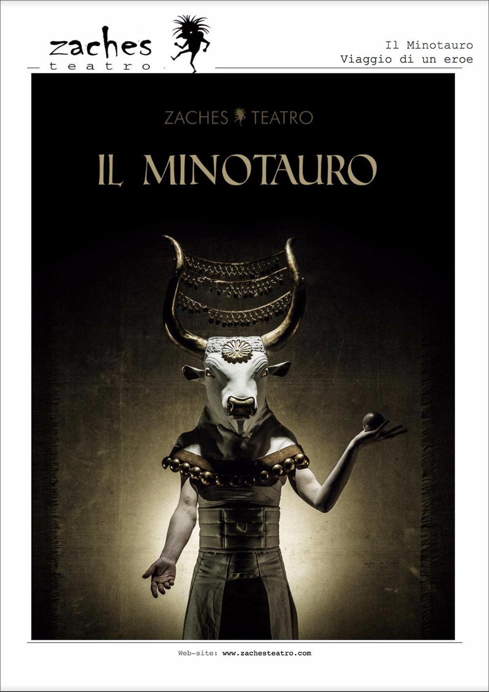 Zaches Teatro   Il Minotauro    Brochure   2016