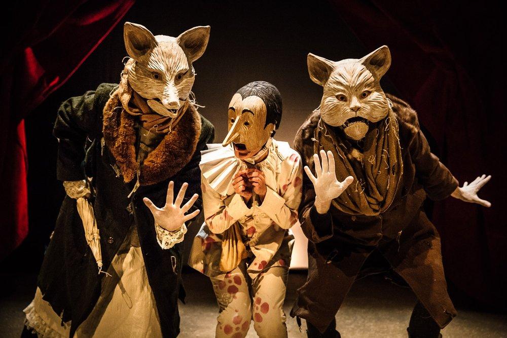 Zaches Teatro | Pinocchio   Zaches Teatro, directed by Luana Gramegna. With Alice De Marchi, Enrica Zampetti, Gianluca Gabriele  San Gimignano, 2014