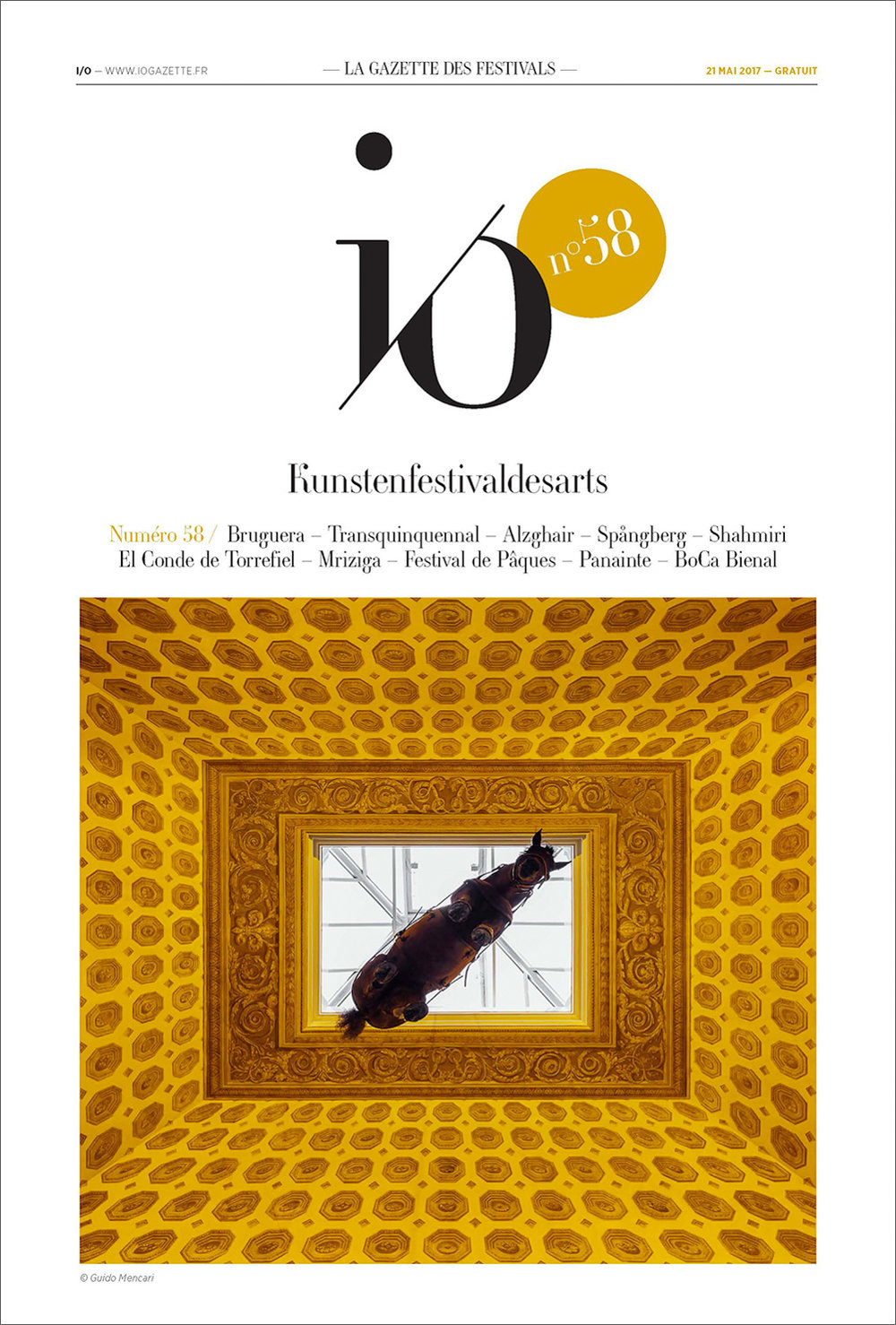 Maurizio Cattelan | Novecento    Magazine cover   Io Gazzette, 2017
