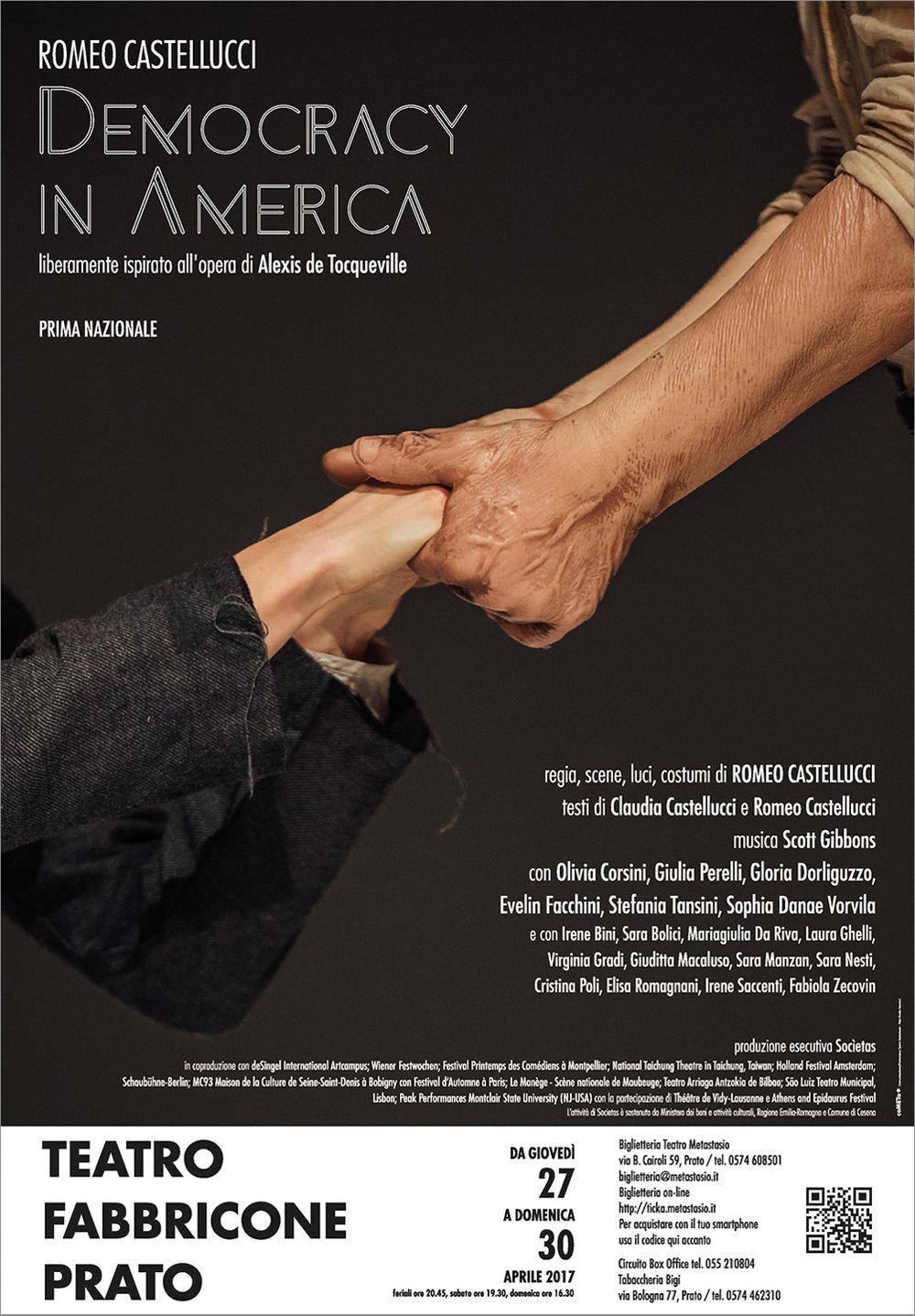 Romeo Castellucci | Democracy in America    Poster   Teatro Metastasio, 2017