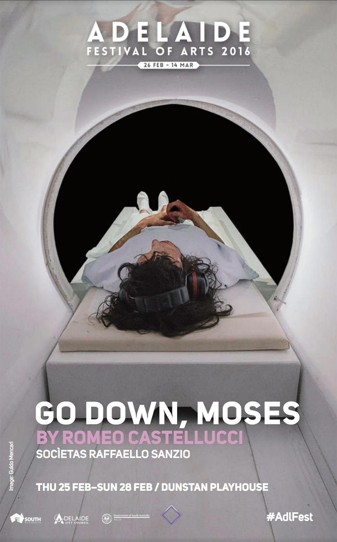 Romeo Castellucci  Go Down, Moses   Socìetas Raffaello Sanzio, directed by Romeo Castellucci   Poster   Adelaide Festival of Arts, 2016