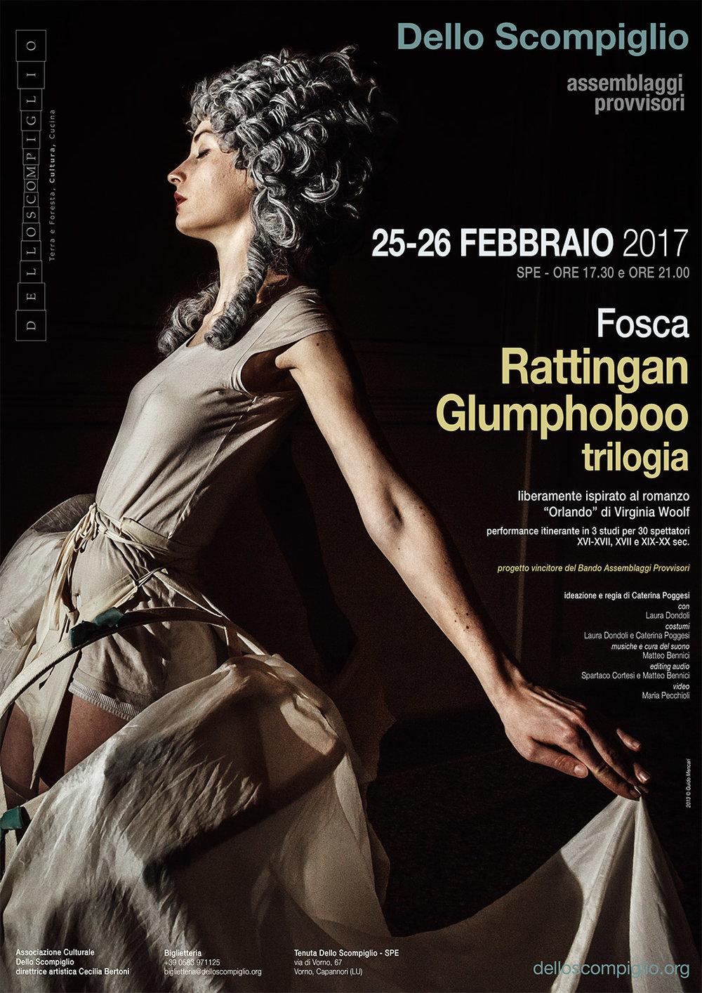 Fosca/Caterina Poggesi  Rattingan Glumphoboo    Poster   Associazione Culturale Dello Scompiglio, 2017