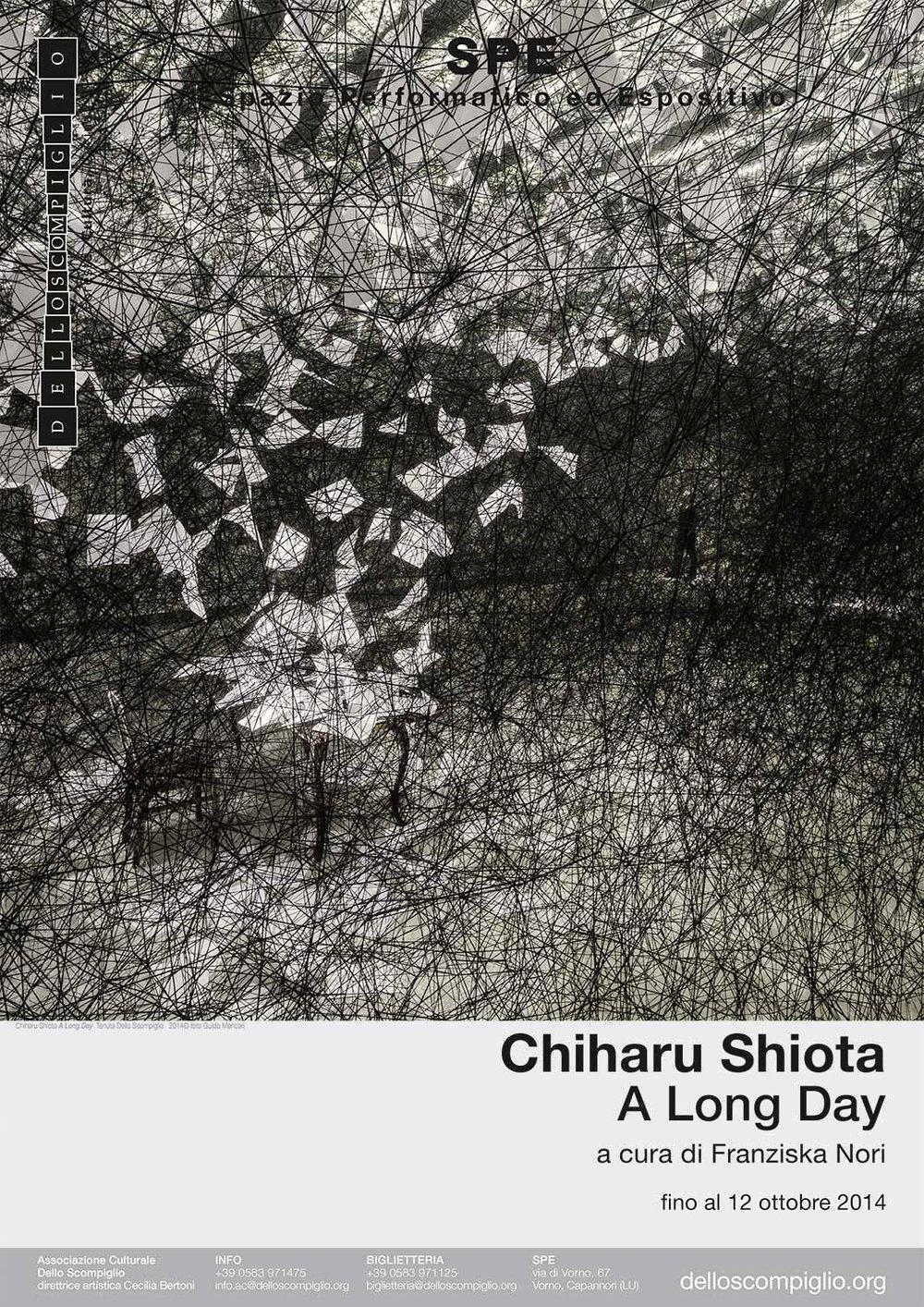 Chiharu Shiota | A long day    Poster   Associazione Culturale Dello Scompiglio, 2014