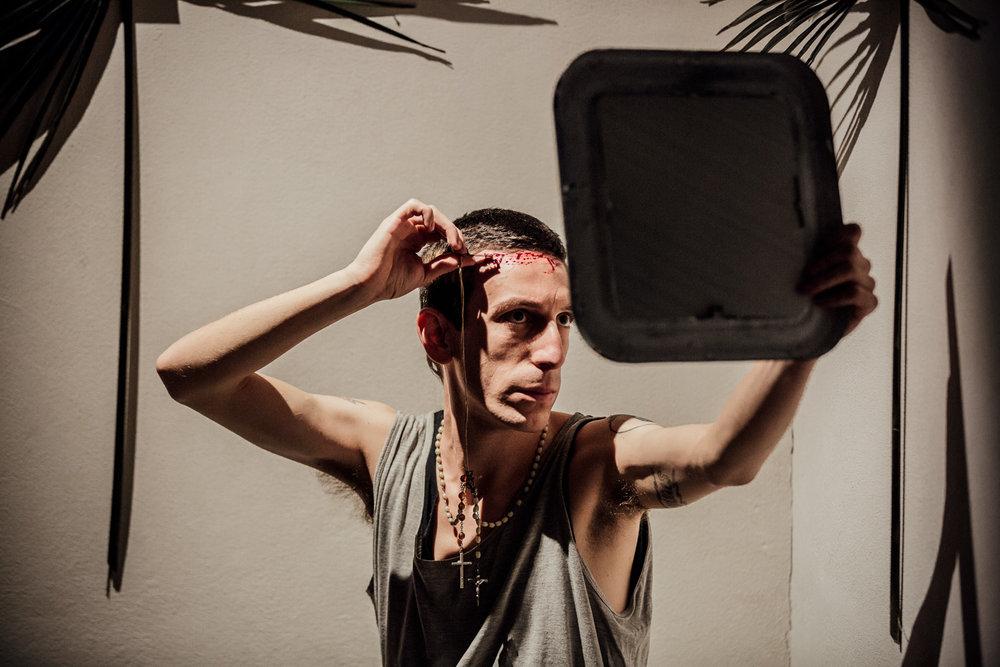 Gabriele Longega | Vamos con Dios    Venice International Performance Art Week   Venice, 2016