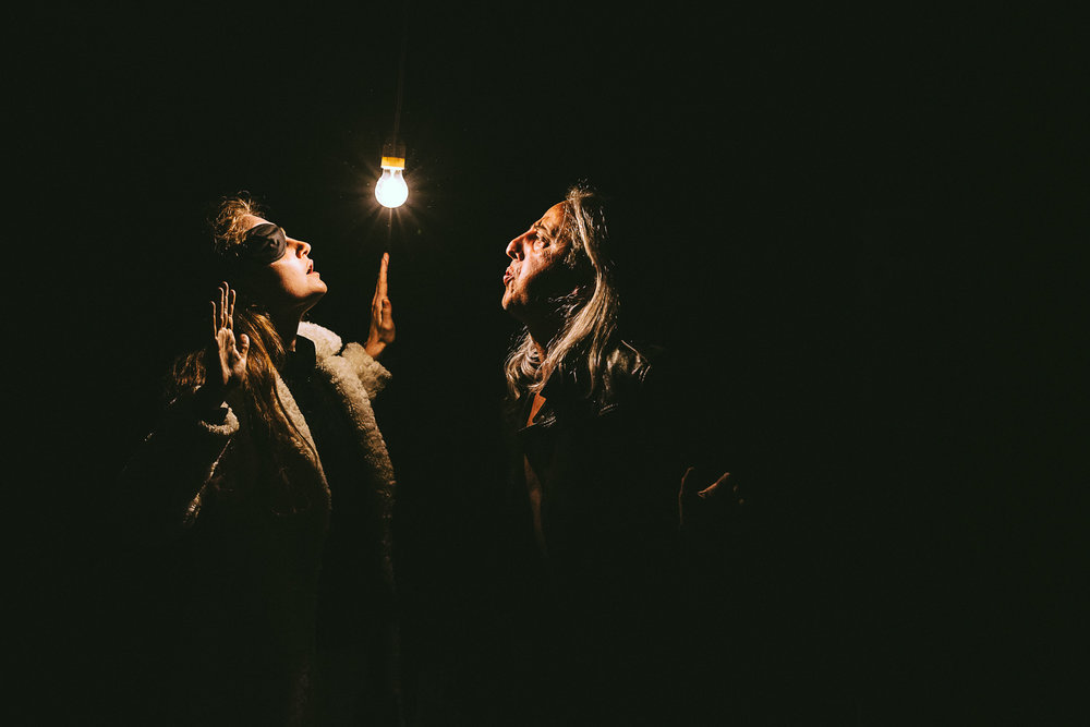Nerval Teatro   Canelupo nudo   Directed by Claudio Morganti .With Maurizio Lupinelli and Elisa Pol. Playwright Rita Frongia. Light design Fausto Bonvini  Livorno, 2014