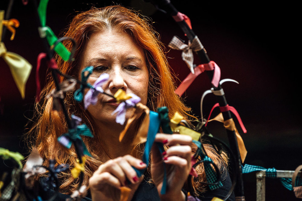 Karen Finley | Ribbon Gate    Spill Festival of Performance   London, 2015