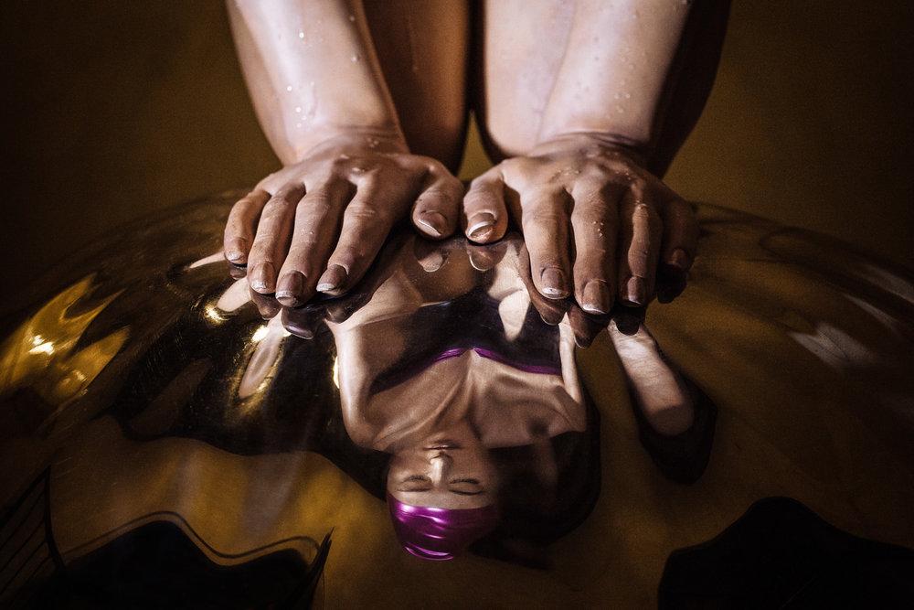 Monumental Quan   by  Carole A. Feuerman   Venice, 2013