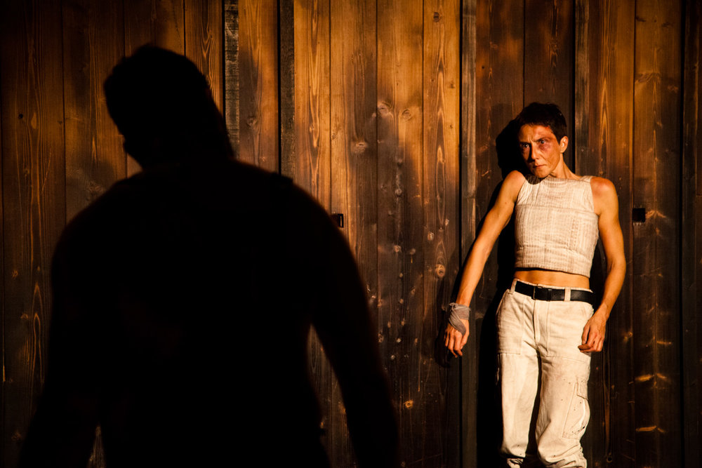 Teatro Del Carretto | Giovanna al rogo   Directed by Maria Grazia Cipriani. Set designer Graziano Gregori. With Elsa Bossi, Nicolò Belliti, Giacomo Vezzani, Andrea Jonathan Bertolai. Voice-over Dario Cantarelli  Lucca, 2011
