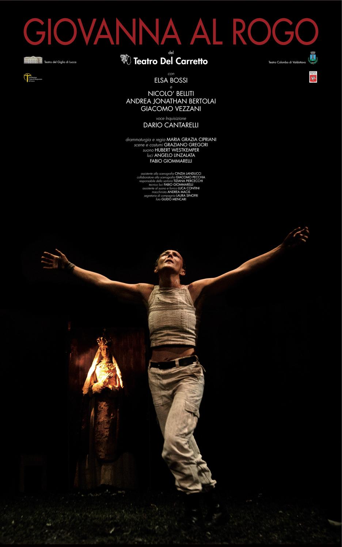 Teatro Del Carretto  Giovanna al rogo    Poster   2011