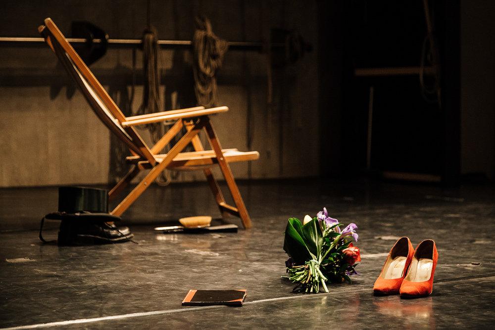 Roberta Carreri |Orme sulla Neve.Autobiografia artistica di un'attrice   Nordisk Teaterlaboratorium Odin Teatret, directed by Roberta Carreri. With Roberta Carreri  Lucca, 2012