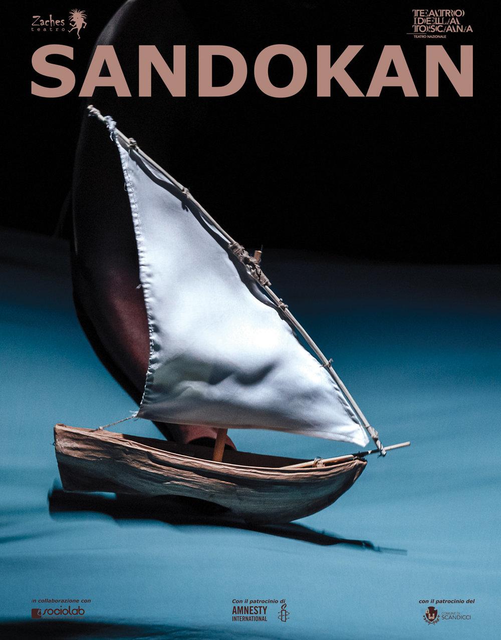Zaches Teatro | Sandokan    Poster   Teatro della Toscana, 2018