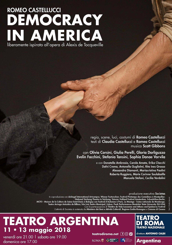 Romeo Castellucci | Democracy in America    Poster   Teatro di Roma, 2018
