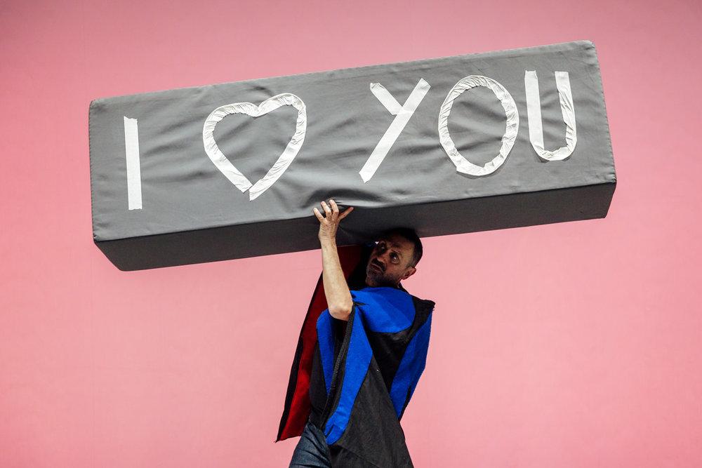 Kinkaleri | I love you Tosca   Directed by Massimo Conti, Marco Mazzoni, Gina Monaco. With Yanmei Yang, Marco Mazzoni. Assistant Giulia Broggi  Prato, 2018