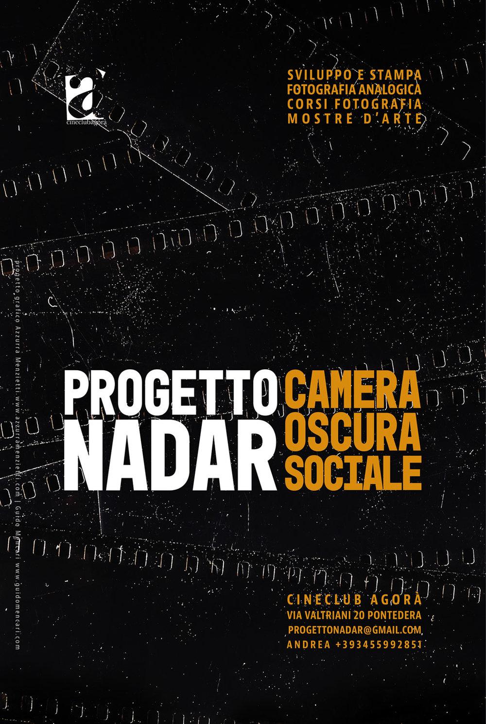 Progetto Nadar. Camera Oscura Sociale    Poster   Graphic Design Azzurra Menzietti & Guido Mencari  2018