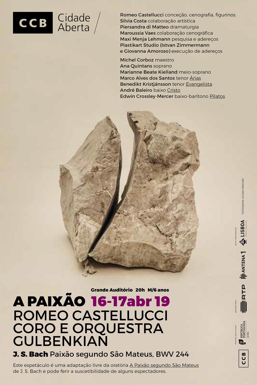 Romeo Castellucci / Michel Corboz   Johann Sebastian Bach - La Passione    Centro Cultural de Belém   Lisbon, 2019