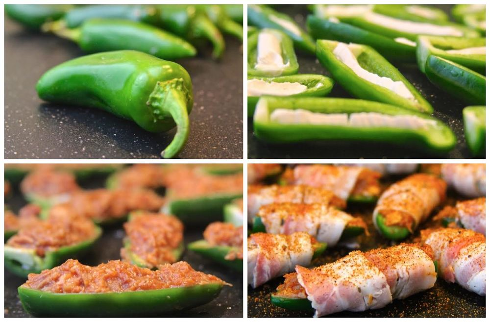 Assembling the Smoked Chicken Jalapeno Poppers