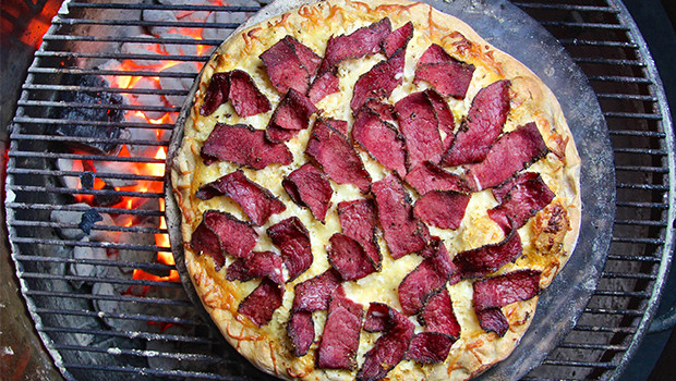 Grilled Reuben Pizza