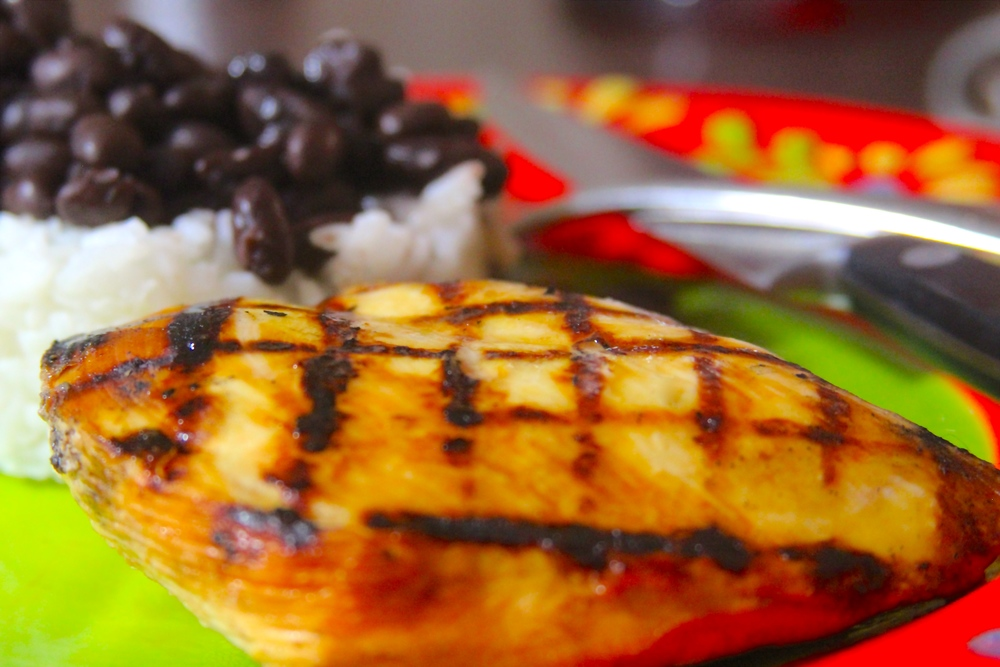 Orange Ginger Grilled Chicken Breasts