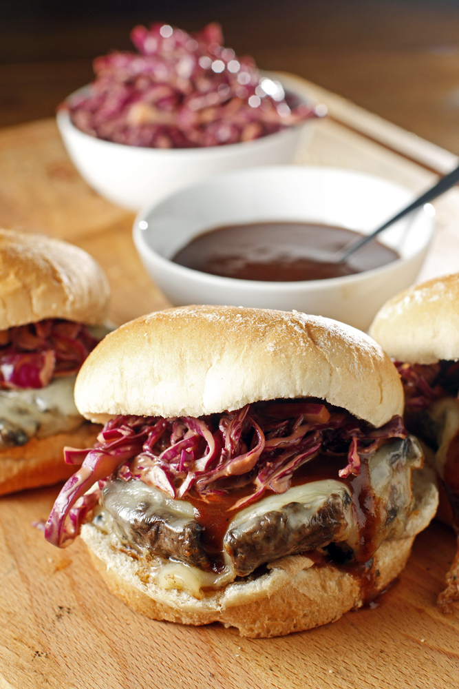 BBQ Portobello Mushroom Sandwich with Smoked Gouda