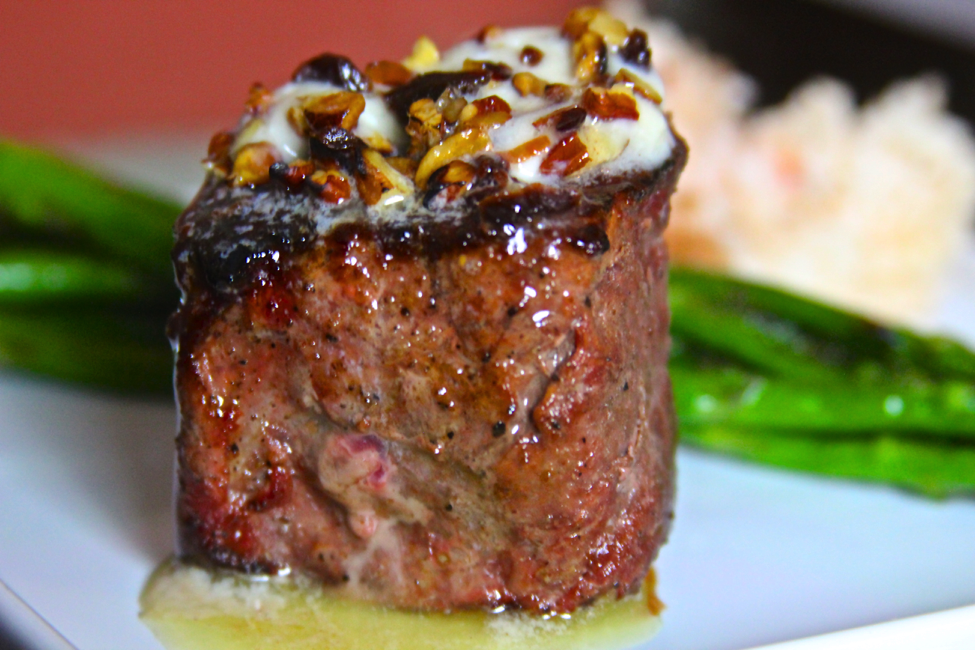Grilled Venison Fillet with Cherry Pecan Butter