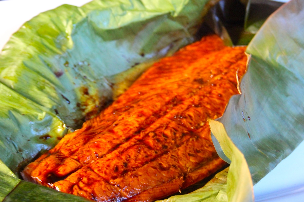 Grilled Banana Leaf Wrapped Salmon