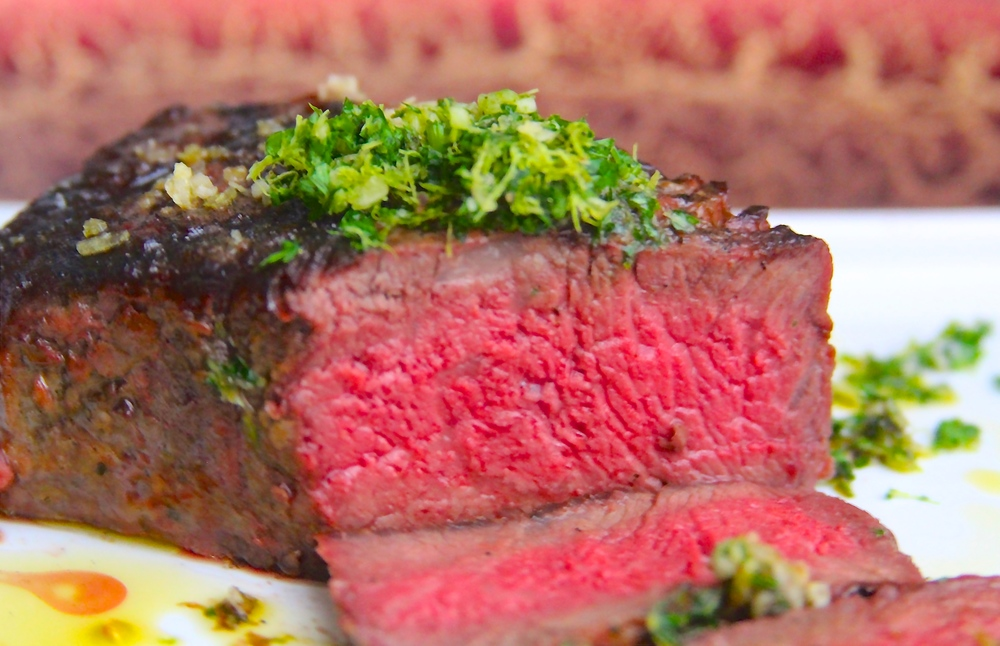 Sliced Strip Steak with Gremolata