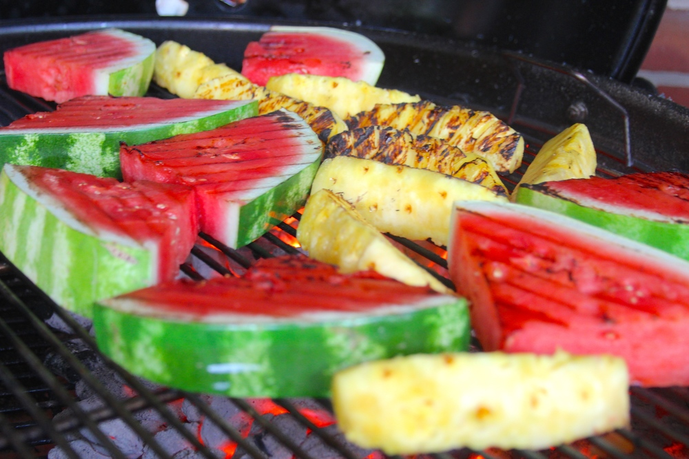 Grilled Pineapple and Grilled Watermelon