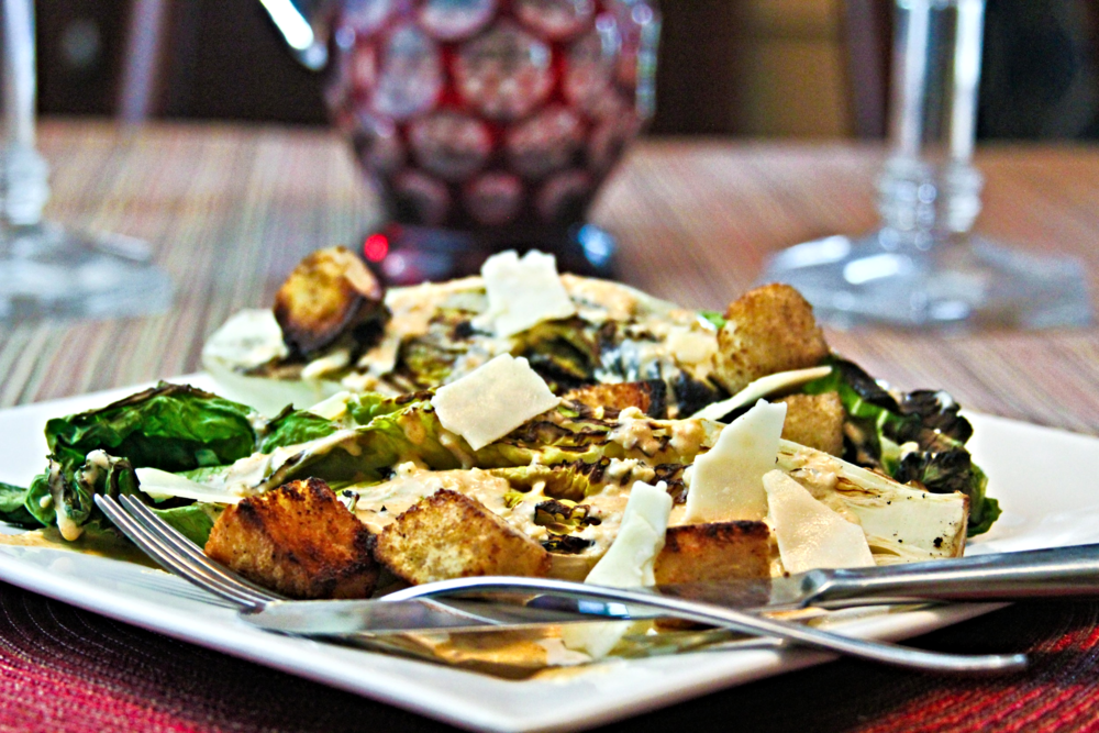 Grilled Caesar Salad with Fire Toasted Croutons
