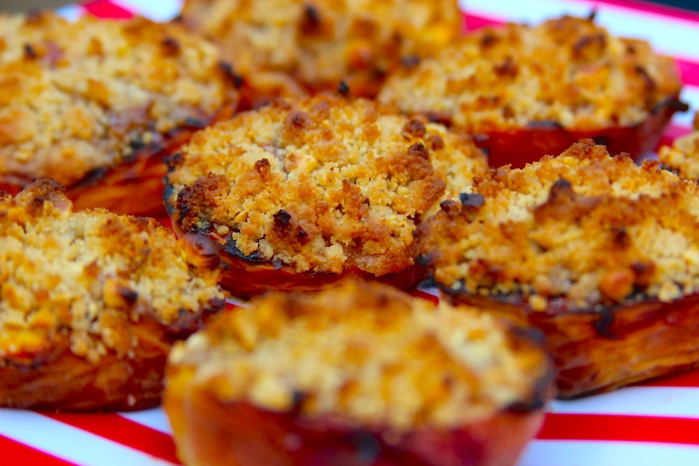 Grilled Peach Crumbles