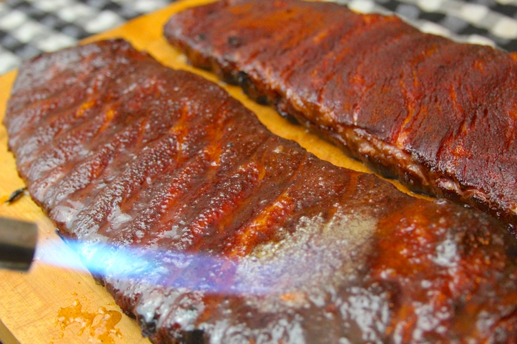 Smoked and Bruleed Ribs