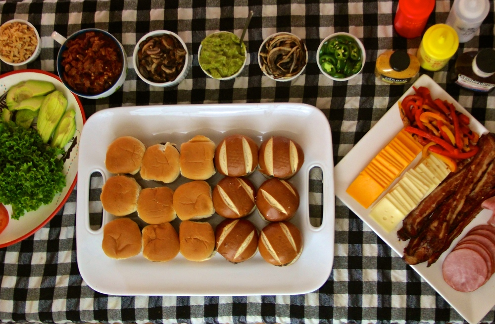 Make Your Own Burger Bar