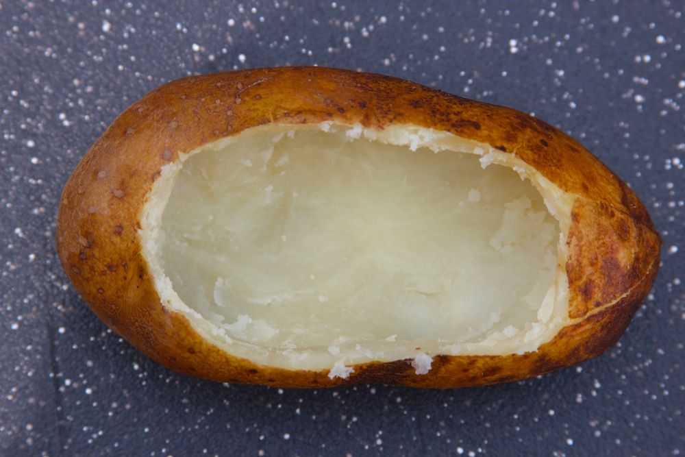 Hollow Out the Center of the Baked Potatoes