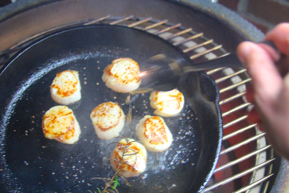 Baste Scallops with Clarified Butter