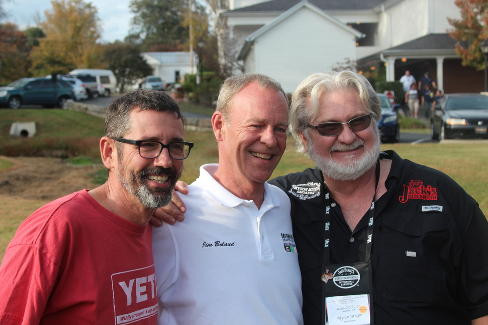"""BBQ Pitmaster Judges Tuffy Stone and Myron Mixon"