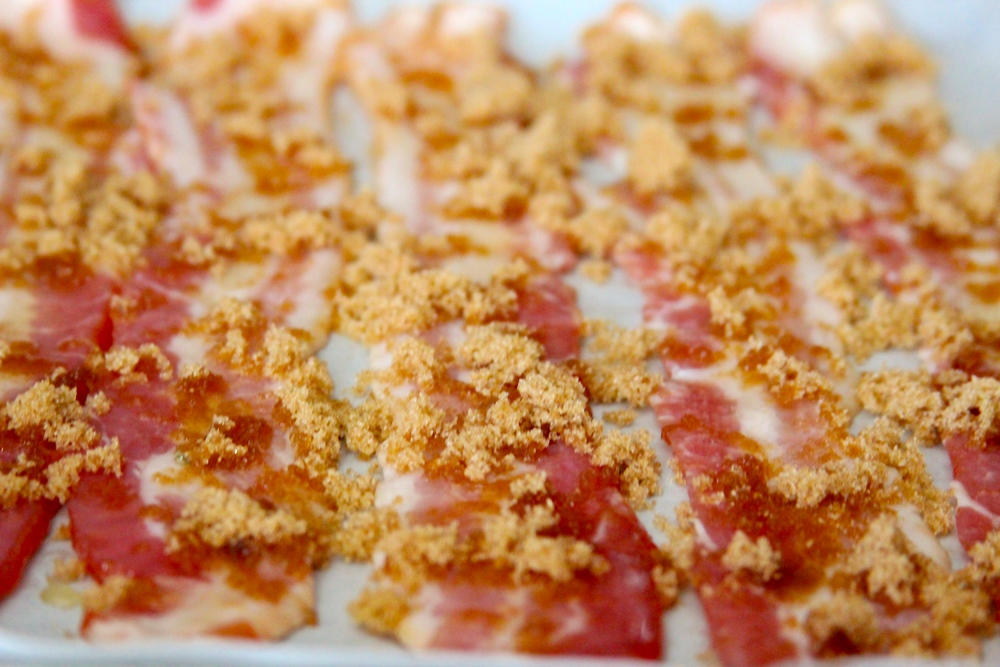 Sprinkle Brown Sugar over Bacon