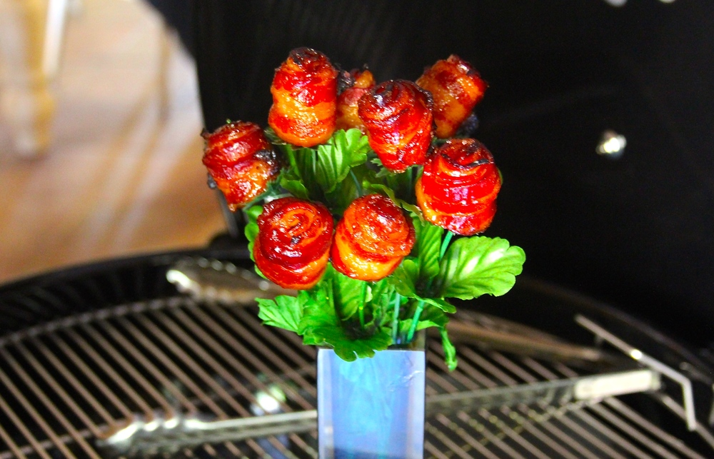 Add Stems to Bacon Roses