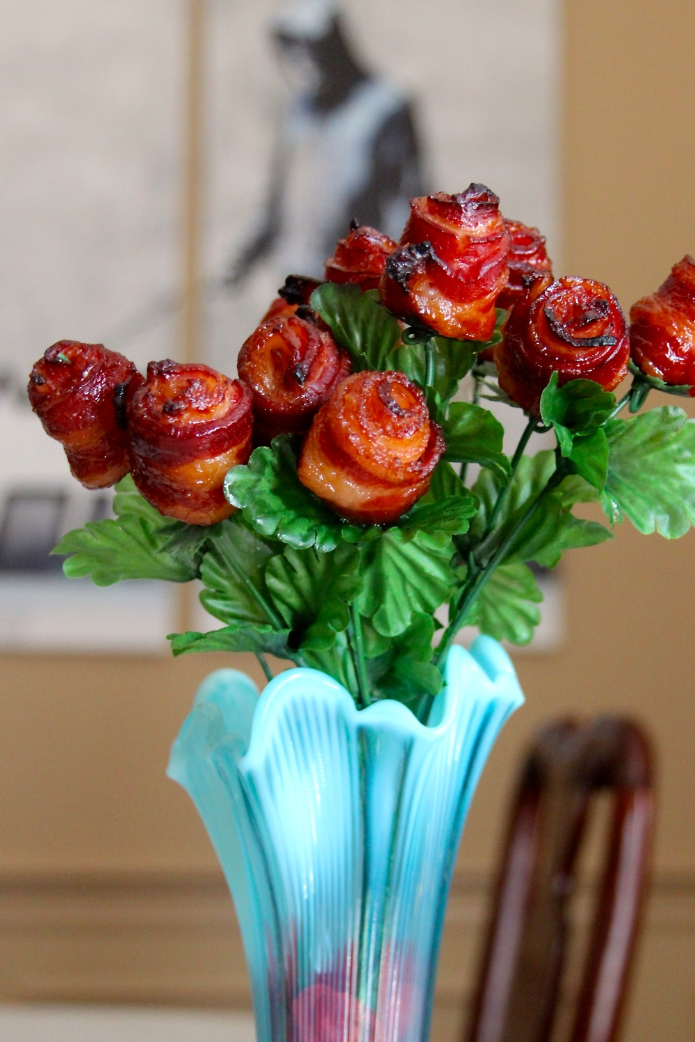 Bacon Roses on the Grill