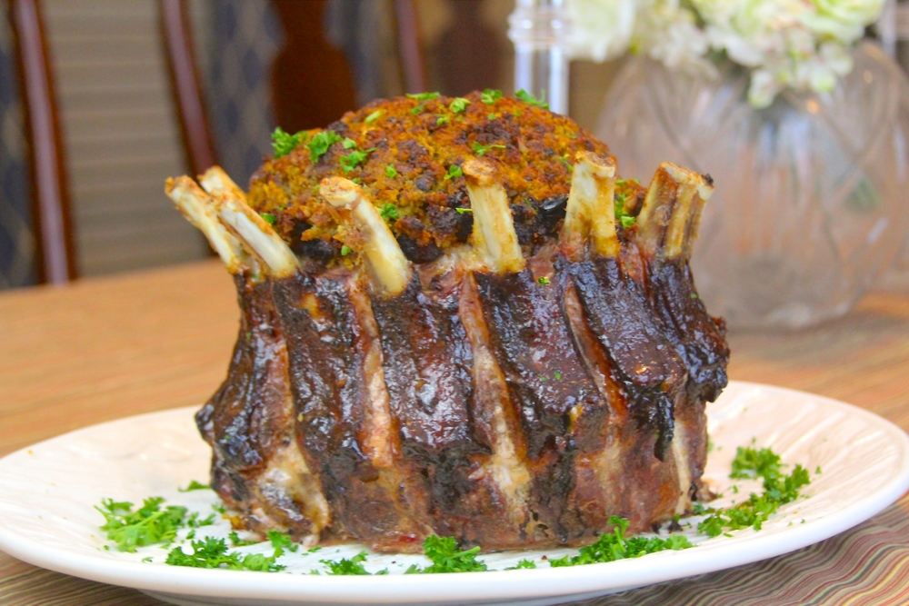 Balsamic Roasted Crown Rack Of Lamb Recipe Cosmecol