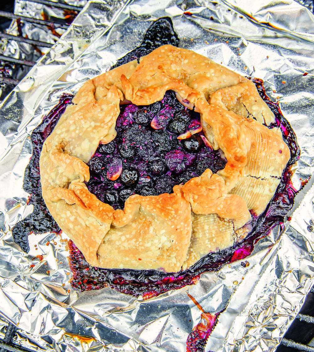 Grilled Mixed Fruit Crostada. Photo by Ken Goodman