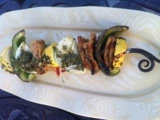 Chimichurri Vegetable and Seitan Skewers