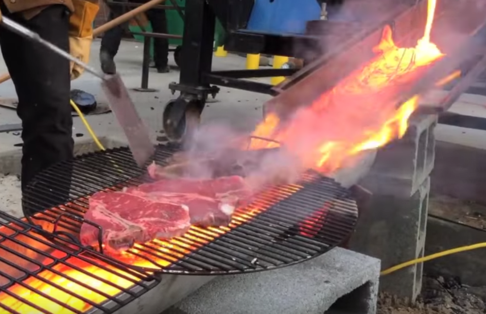 Cooking Steak with Lava