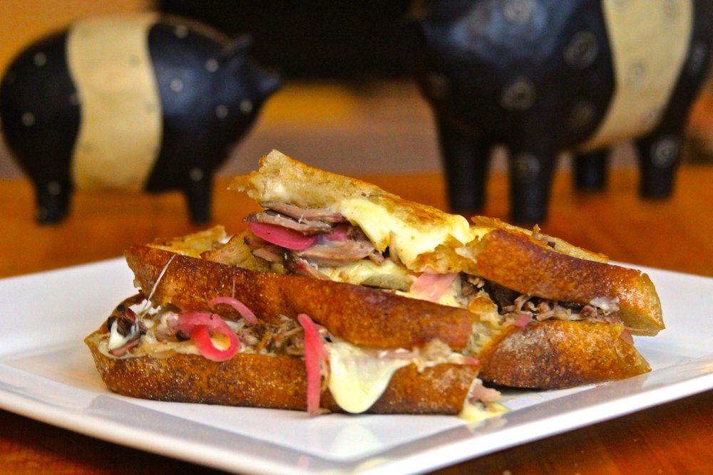 Smithfield Marinated Carnitas Grilled Cheese Sandwich