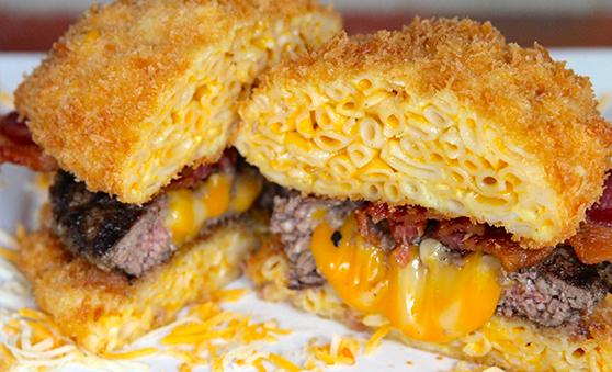 Mac N Cheese Bun Burger
