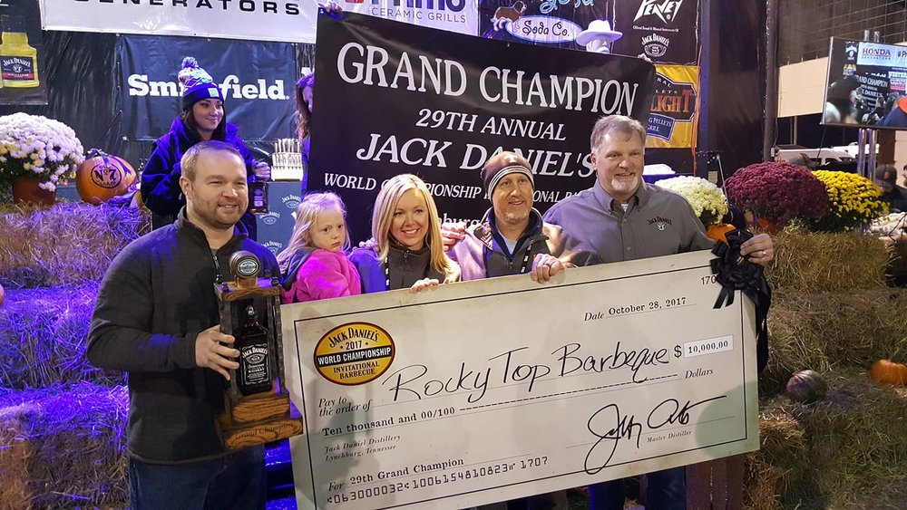 Jack Daniels Invitational Winner Rocky Top Barbecue
