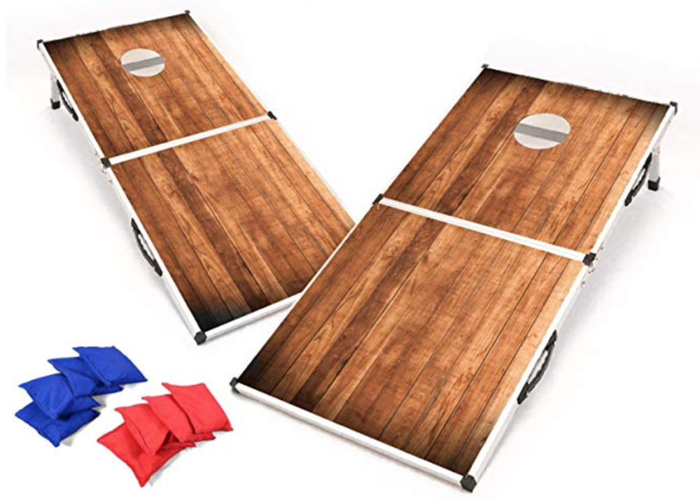 PROFESSIONAL CORNHOLE SET: -