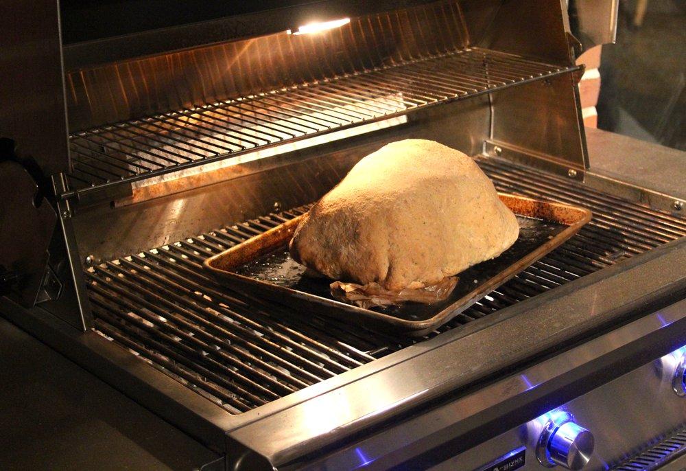Grilling Herb Salt Crusted Strip Loin Roast