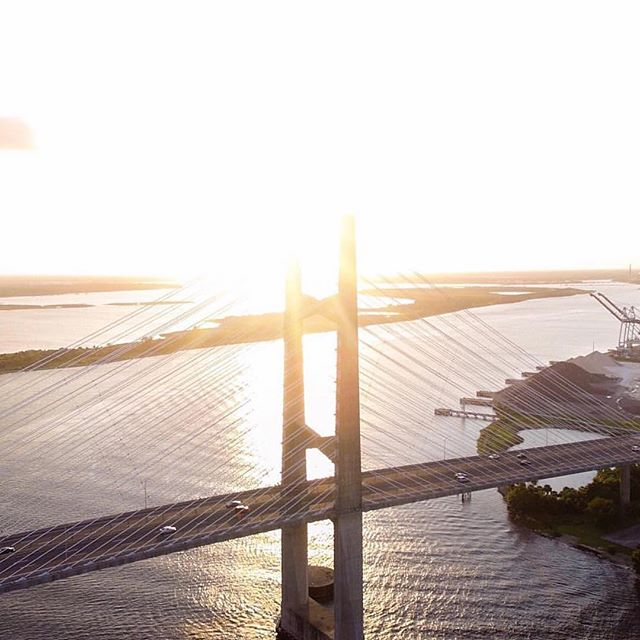 B R I D G E S  Since we started & even through all the mess, it's been cool to see @lance_asper's love for his city. #Jacksonville is lucky to have you & lucky to have such a fantastic bridge worth capturing. Thanks for living the @cityinaday adventure & building bridges with great photos! #CityinaDay