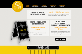 The App Chefs     Logo &   Web Design |   20  14