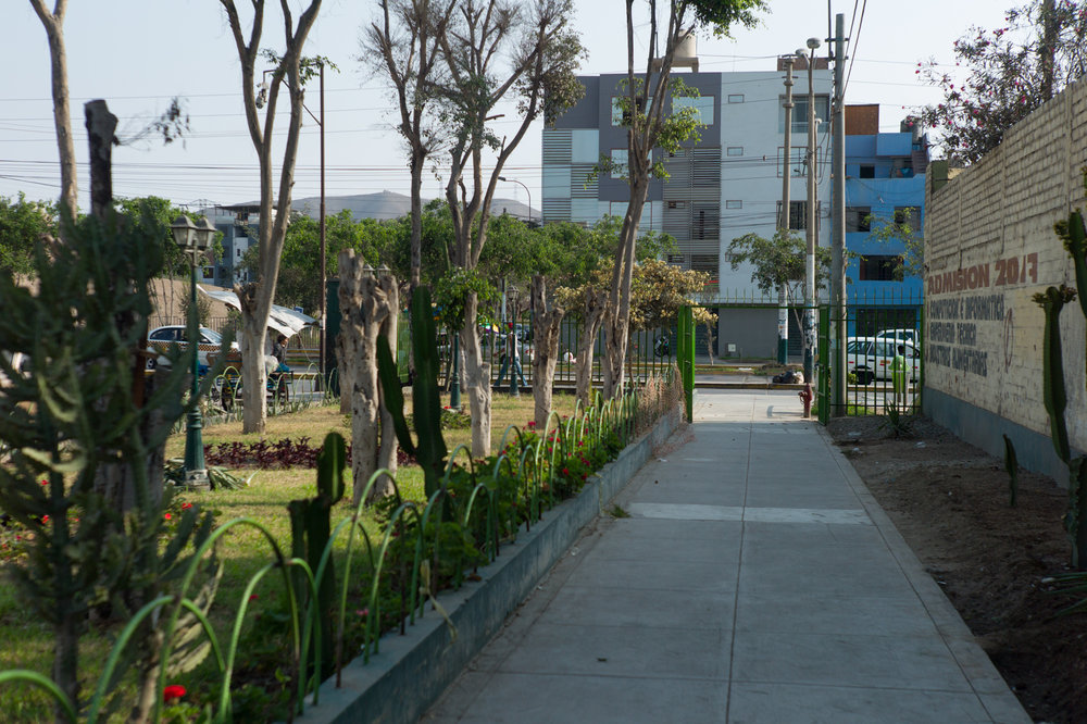 Small park inside a gated neighborhood.