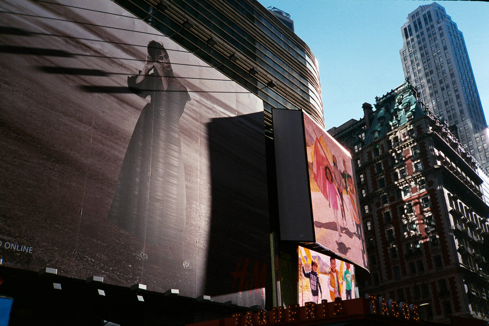 Shadows in Times Square